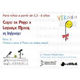 Clases de piano y lenguaje musical en imágenes para niños de 5,5 a 6 años