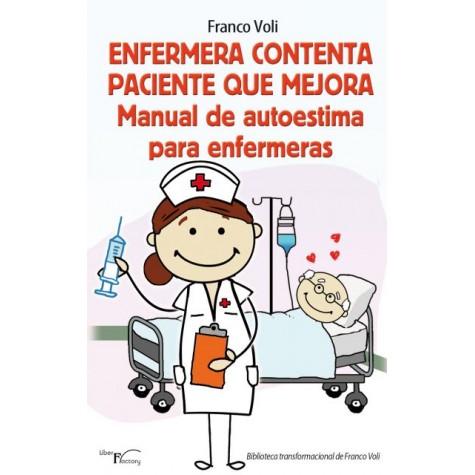 Enfermera contenta paciente que mejora