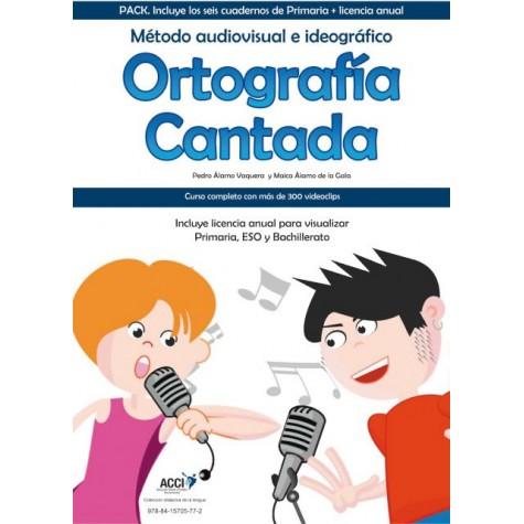 Pack Ortografía Cantada. Método audiovisual e ideográfico.