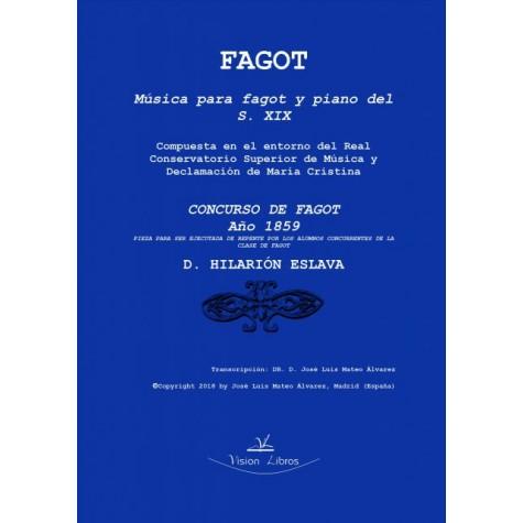Concurso de fagot. Año 1859
