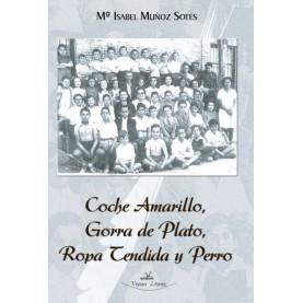 Coche Amarillo, Gorra de Plato, Ropa Tendida y Perro