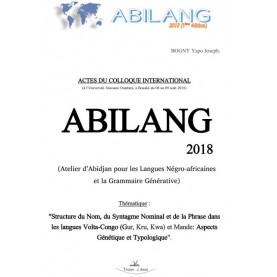 ACTES DU COLLOQUE INTERNATIONAL -  ABILANG 2018